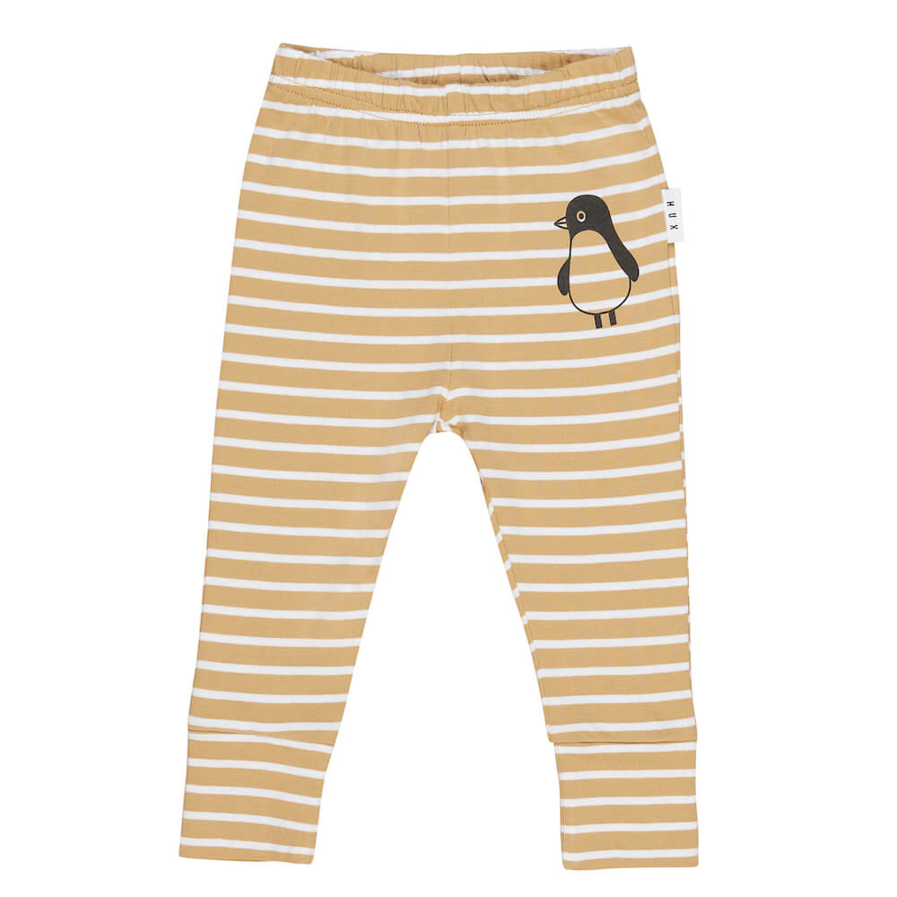 Huxbaby Mustard Stripe Leggings | Tiny People
