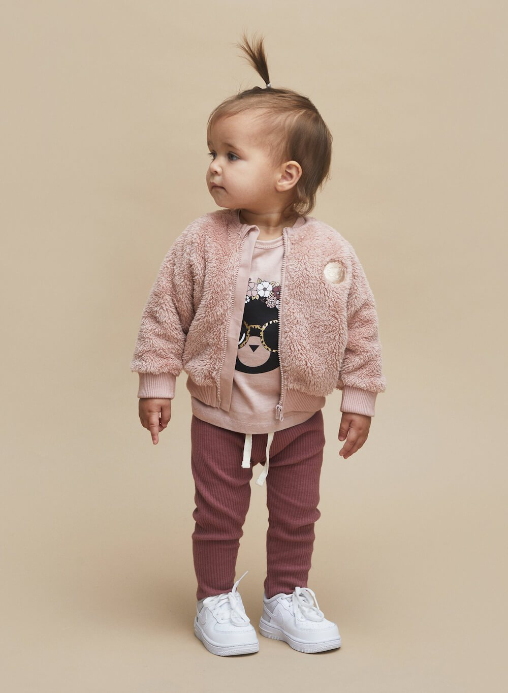 Huxbaby Plum Rib Leggings | Tiny People