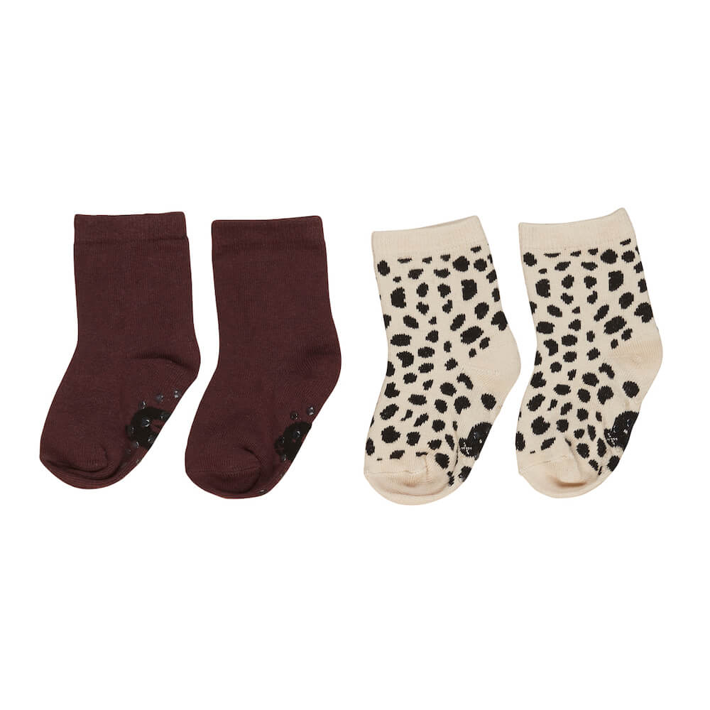 Huxbaby Burgundy / Animal Socks 2Pk | Tiny People