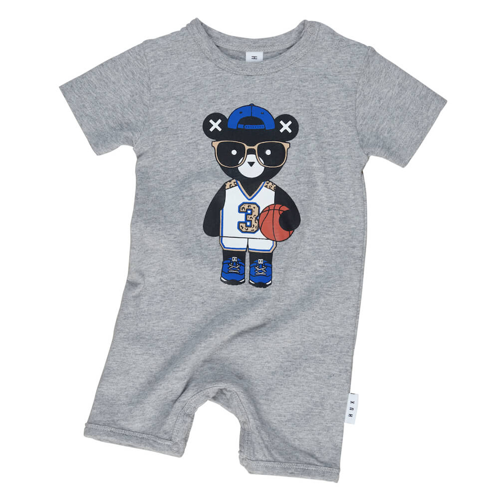 Huxbaby Basketball Hux Short Romper | Tiny People