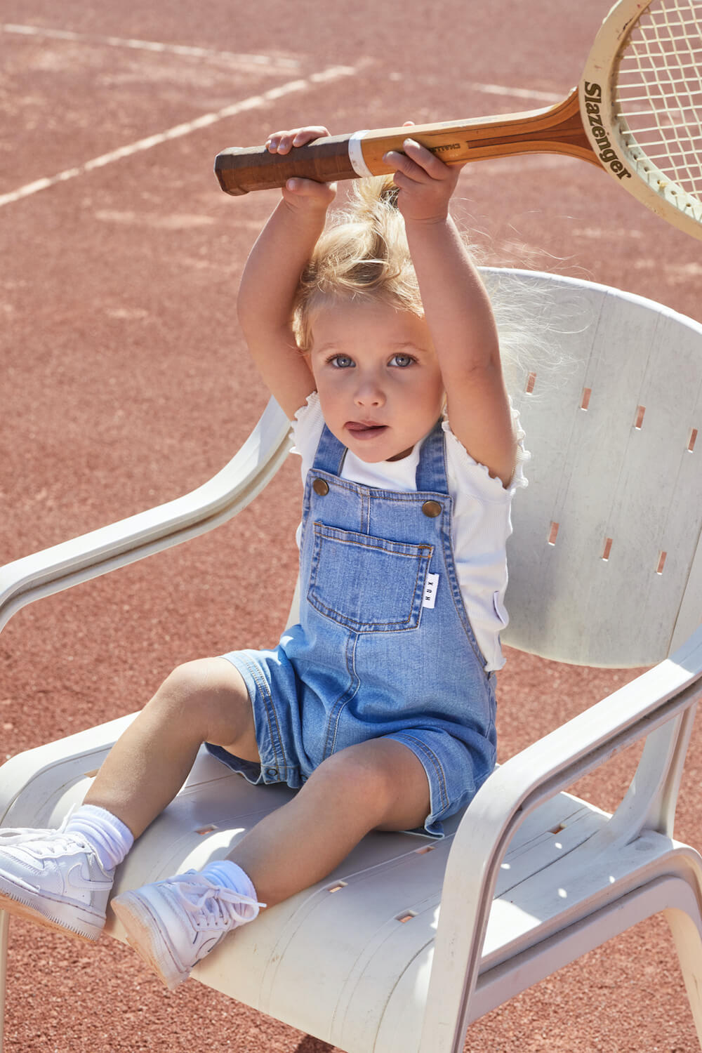 Huxbaby Short Denim Overalls | Tiny People