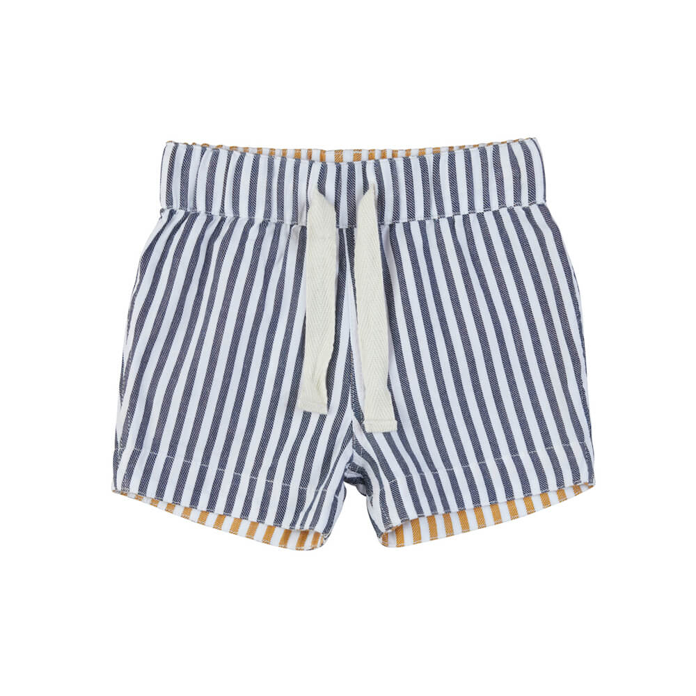 Reversible Chino Shorts Navy + Mustard