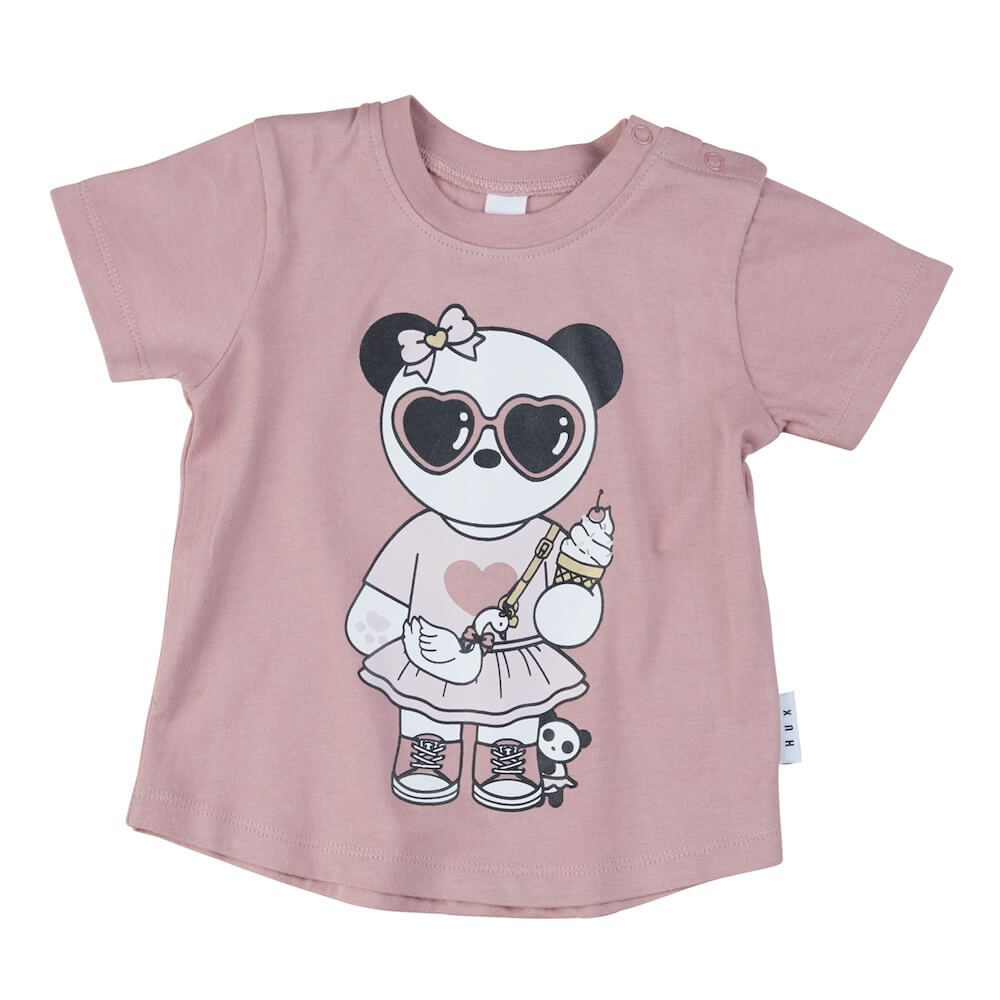 Huxbaby Panda Girl T-Shirt Orchid | Tiny People