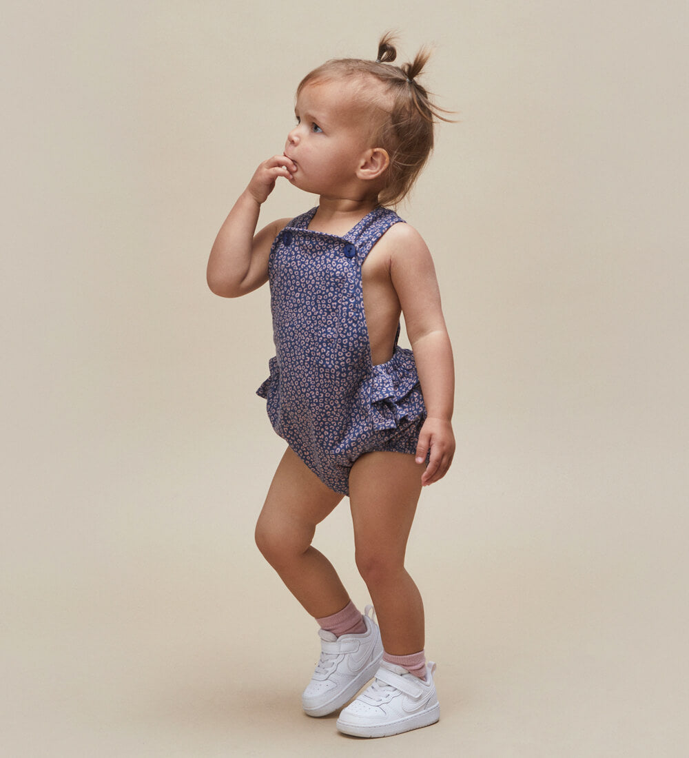 Huxbaby Ditsy Animal Frill Playsuit | Tiny People