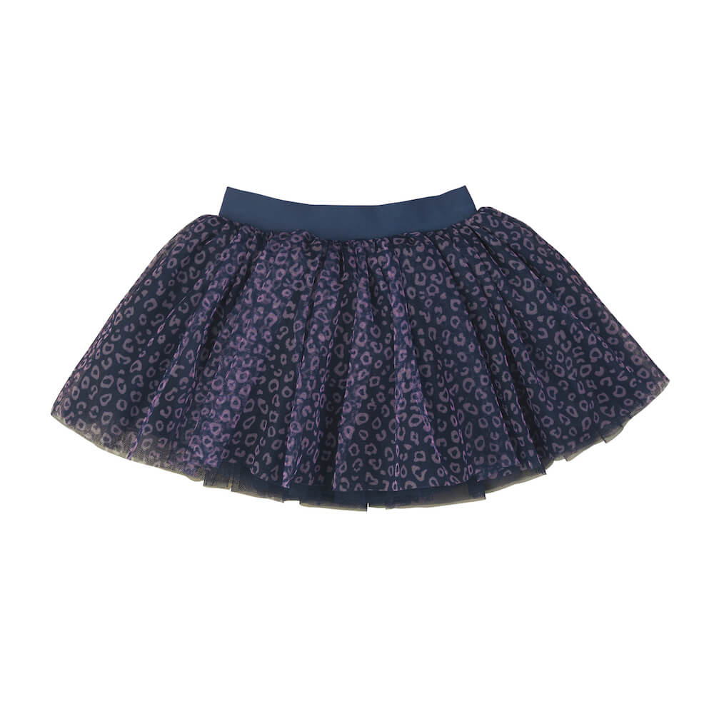Huxbaby Ditzy Animal Tulle Skirt Dark Blue | Tiny People
