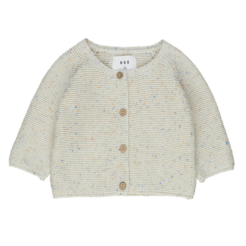 Huxbaby Sprinkles Knit Cardi Cream | Tiny People