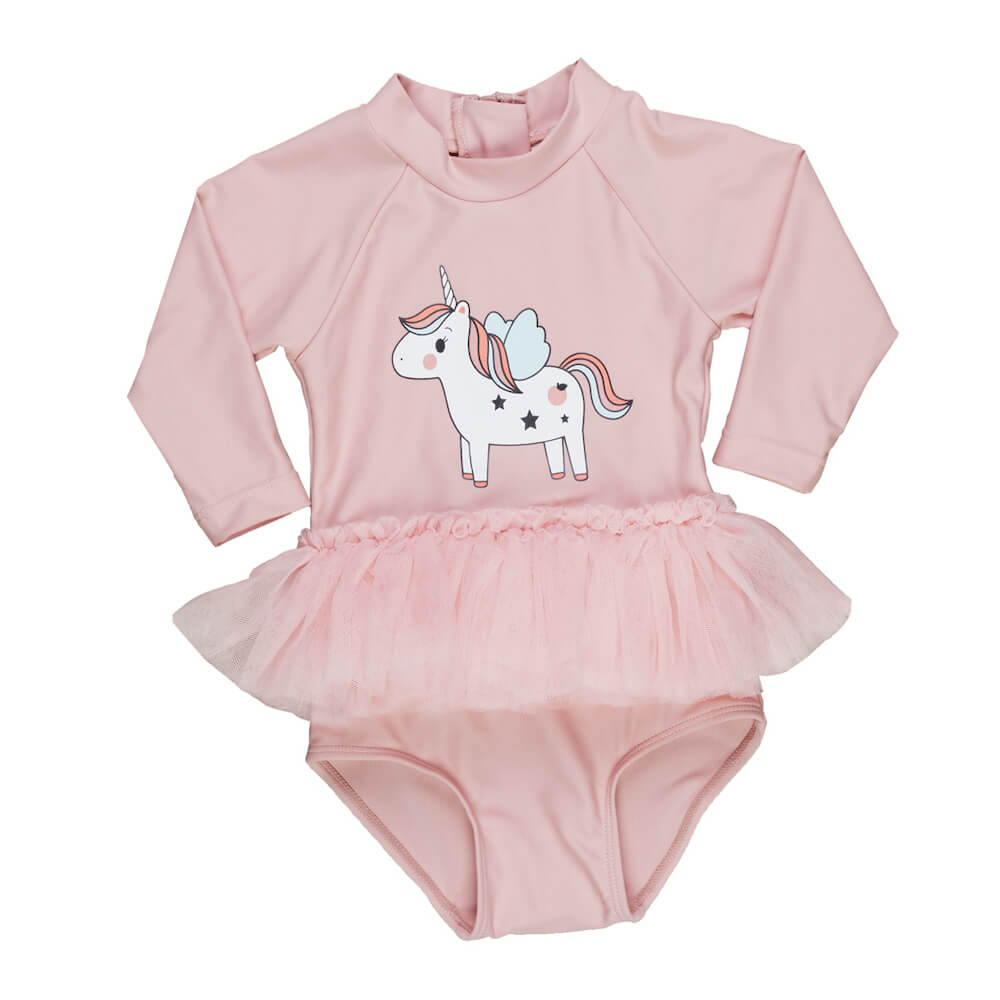 Huxbaby Unicorn Long Sleeve Ballet Swimsuit | Tiny People
