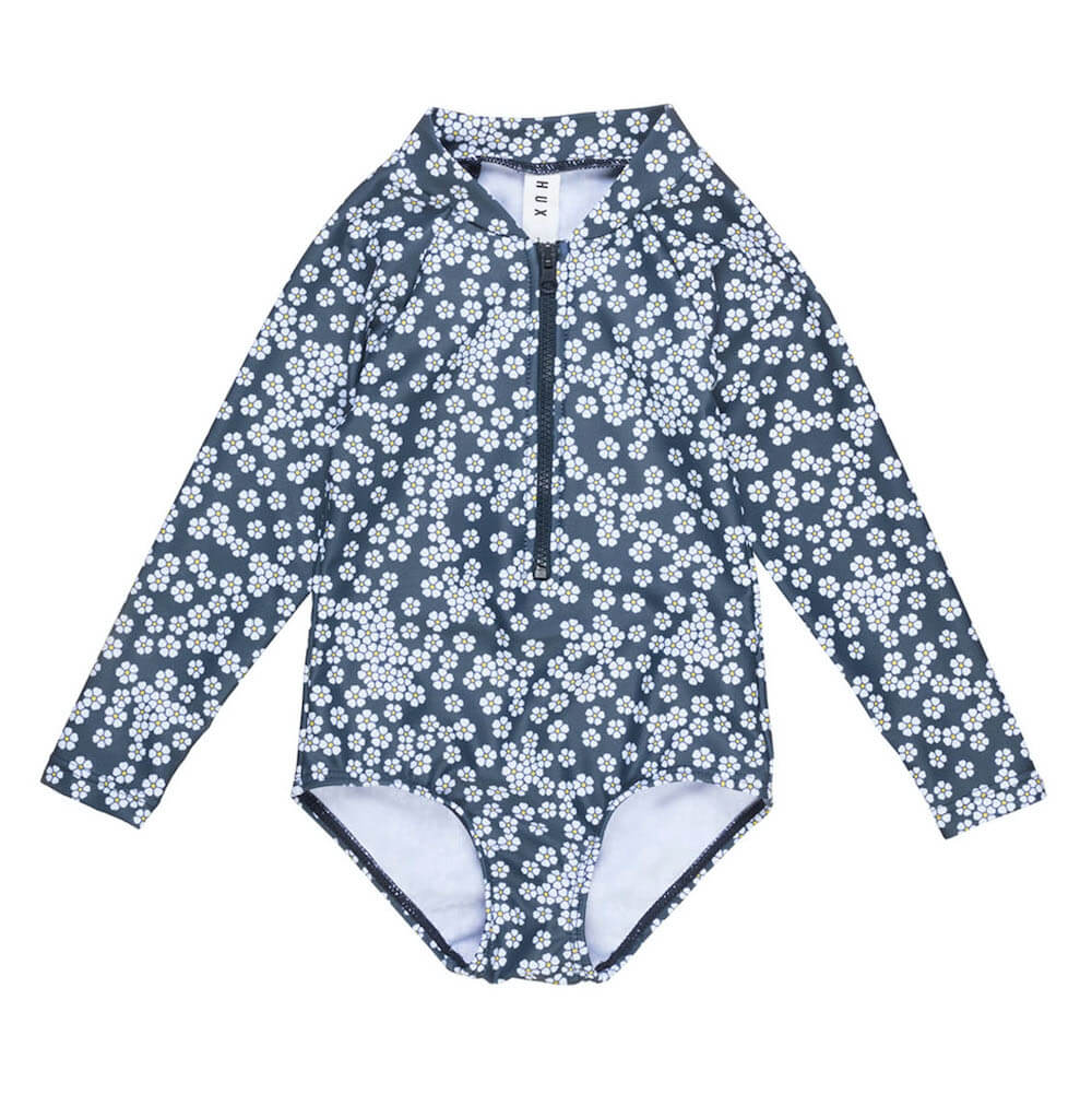 Huxbaby Floral Long Sleeve Zip Swimsuit | Tiny People