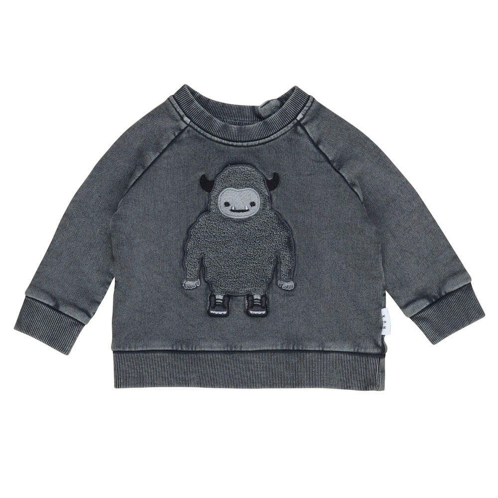 Huxbaby Online Australia Yeti Sweatshirt Charcoal | Tiny People