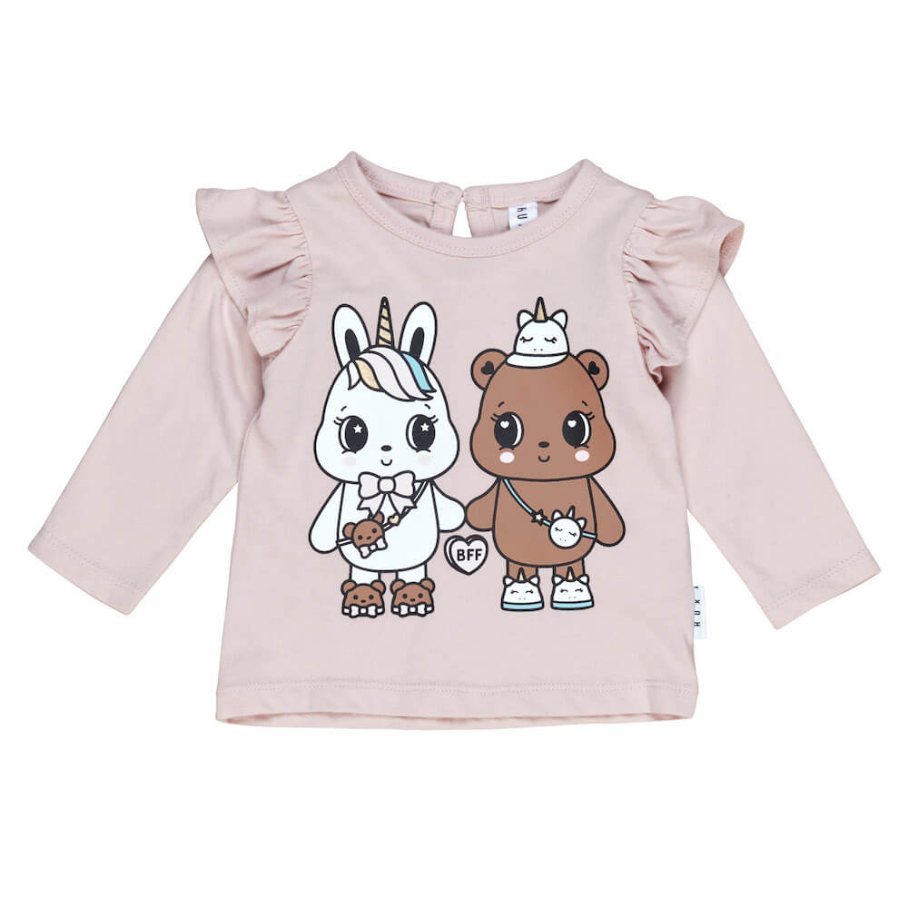 Huxbaby Online Australia Furry Friends Frill Top Rose | Tiny People