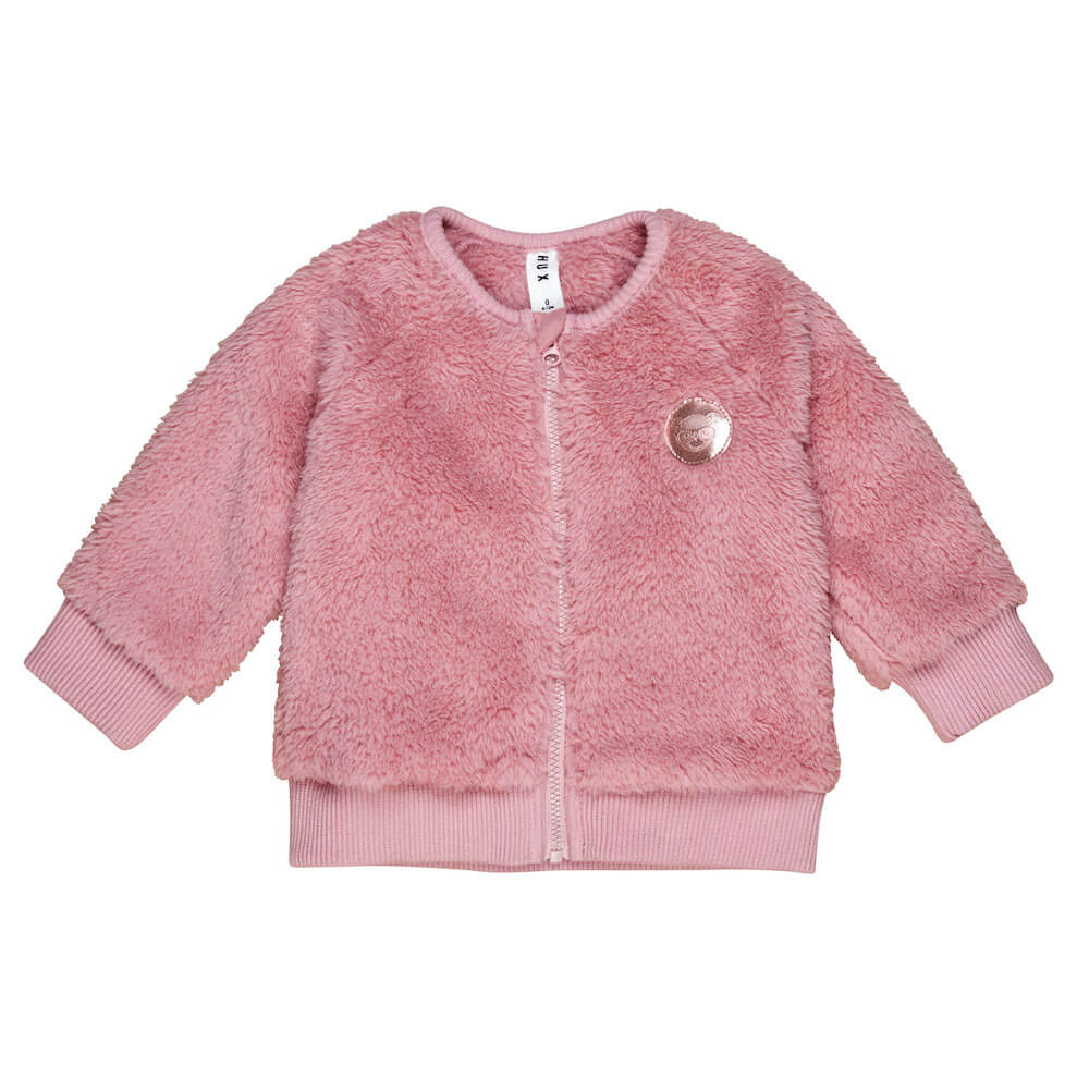 Huxbaby Online Australia Faux Fur Jacket Dark Rose | Tiny People