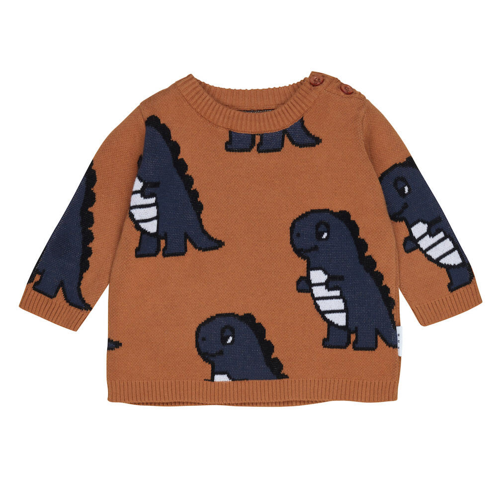 Huxbaby Online Australia Dino Knit Jumper | Tiny People