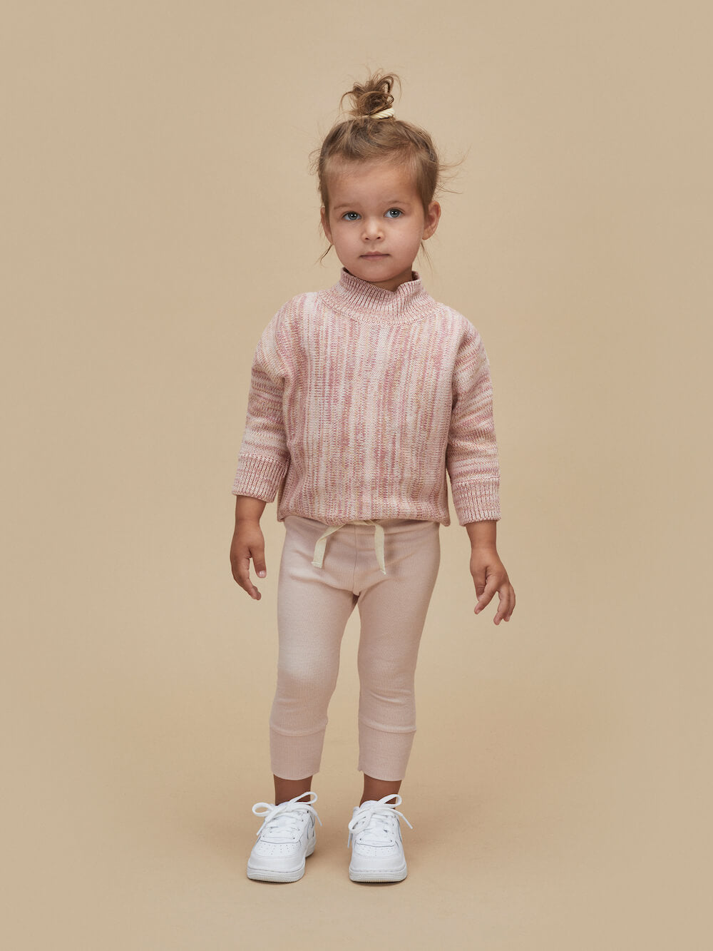 Huxbaby Online Australia Oat Rose Marl Knit Jumper | Tiny People