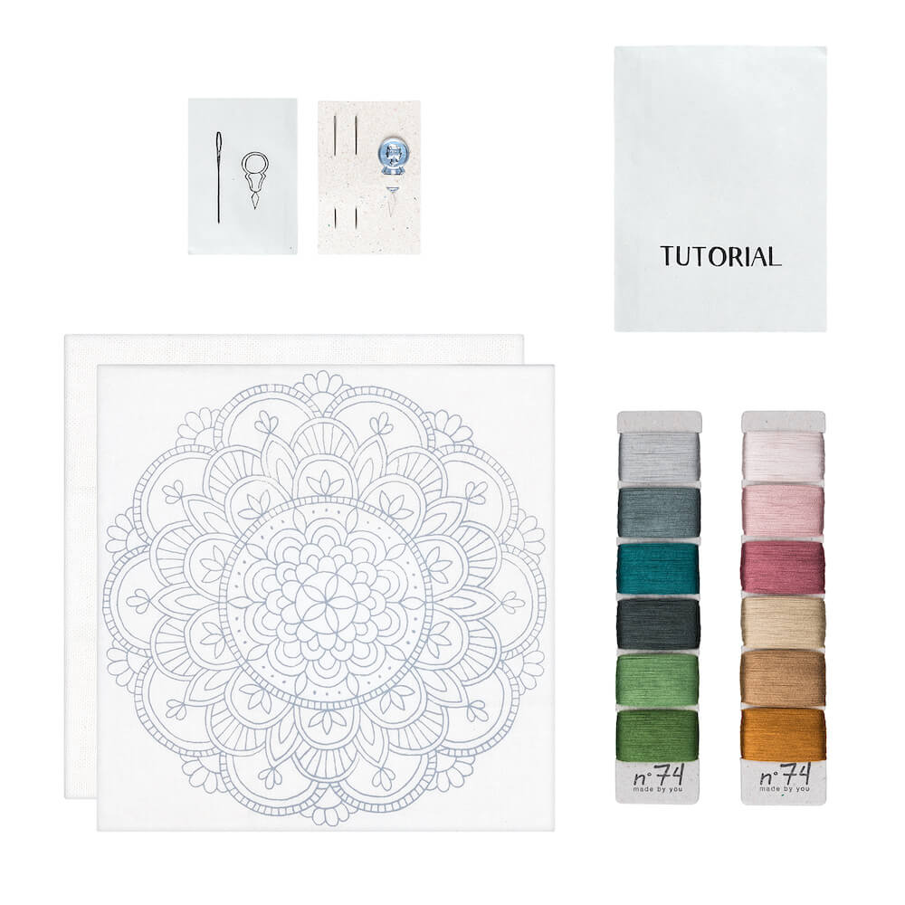 Numero 74 Hoop Kit Calm Mandala | Tiny People