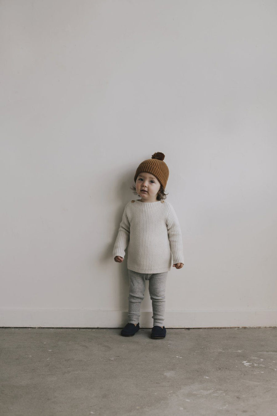 Jamie Kay Rib Knit - Oatmeal Marle - Tiny People Cool Kids Clothes Byron Bay
