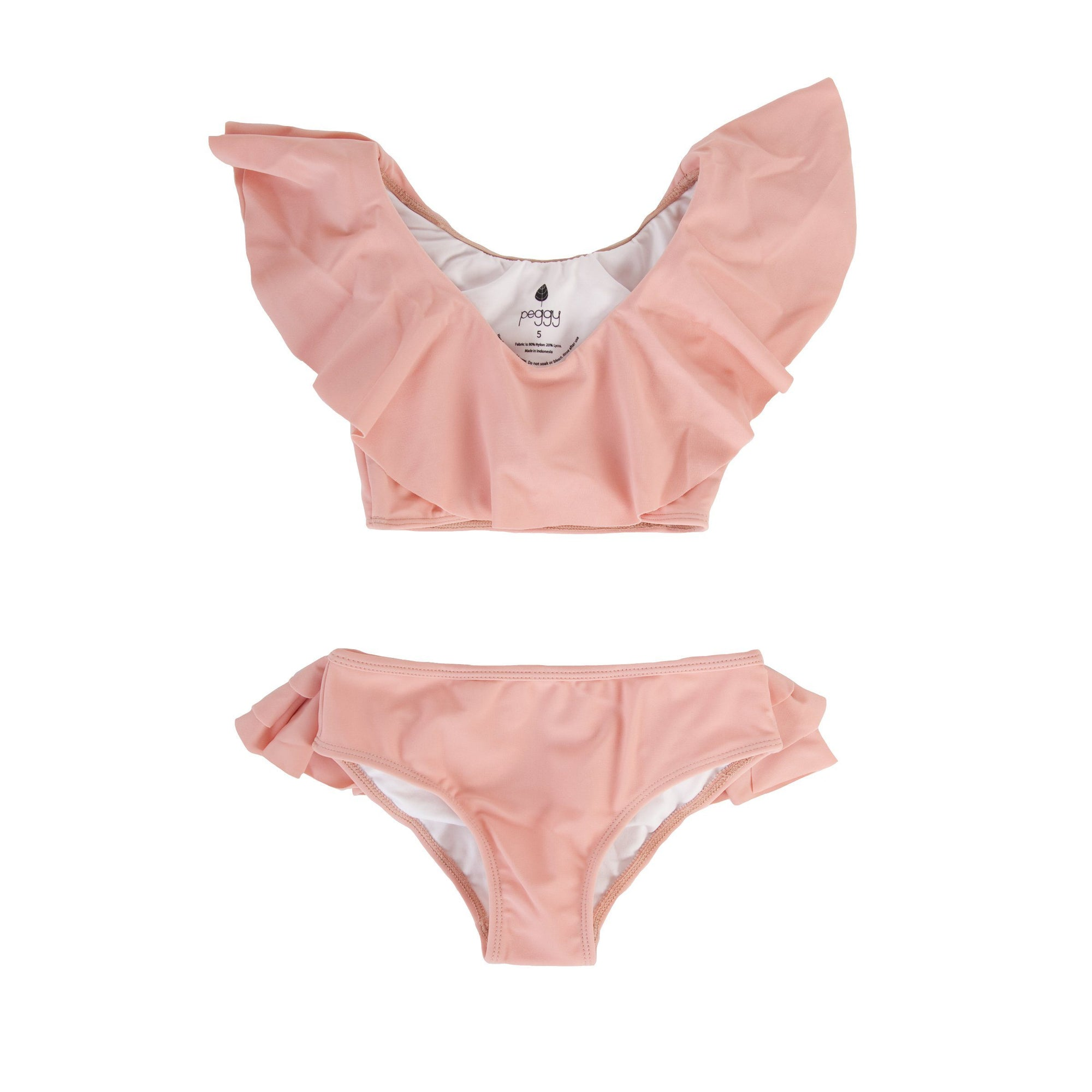 Sweeney two piece swimsuit in blush pink.
