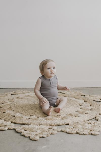 Jamie Kay Cotton Essentials Singlet Bodysuit - Light Grey Marle - Tiny People Cool Kids Clothes Byron Bay
