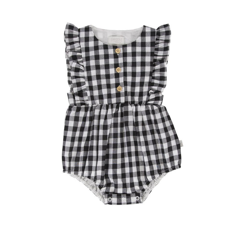 August Playsuit Black Gingham