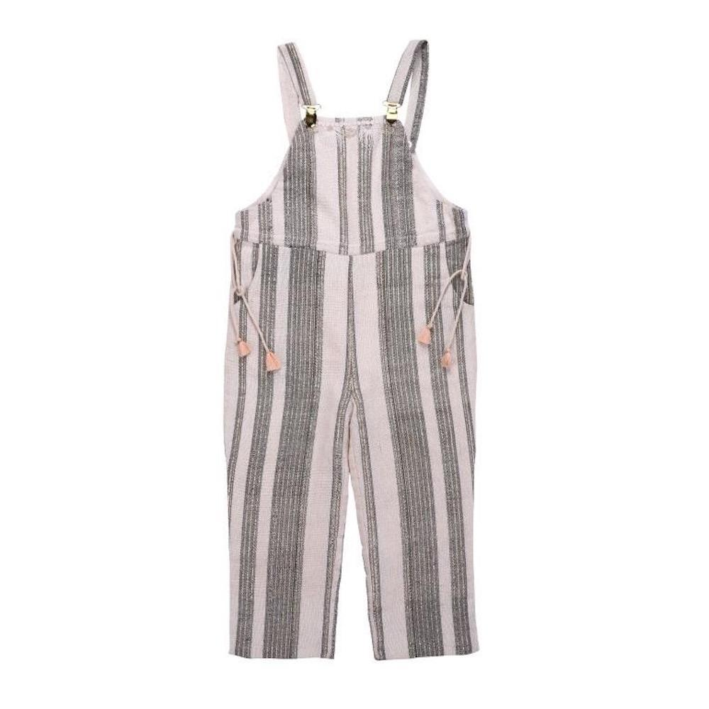 Louise Misha Kingston Overalls Cream Stripes Overalls - Tiny People Cool Kids Clothes