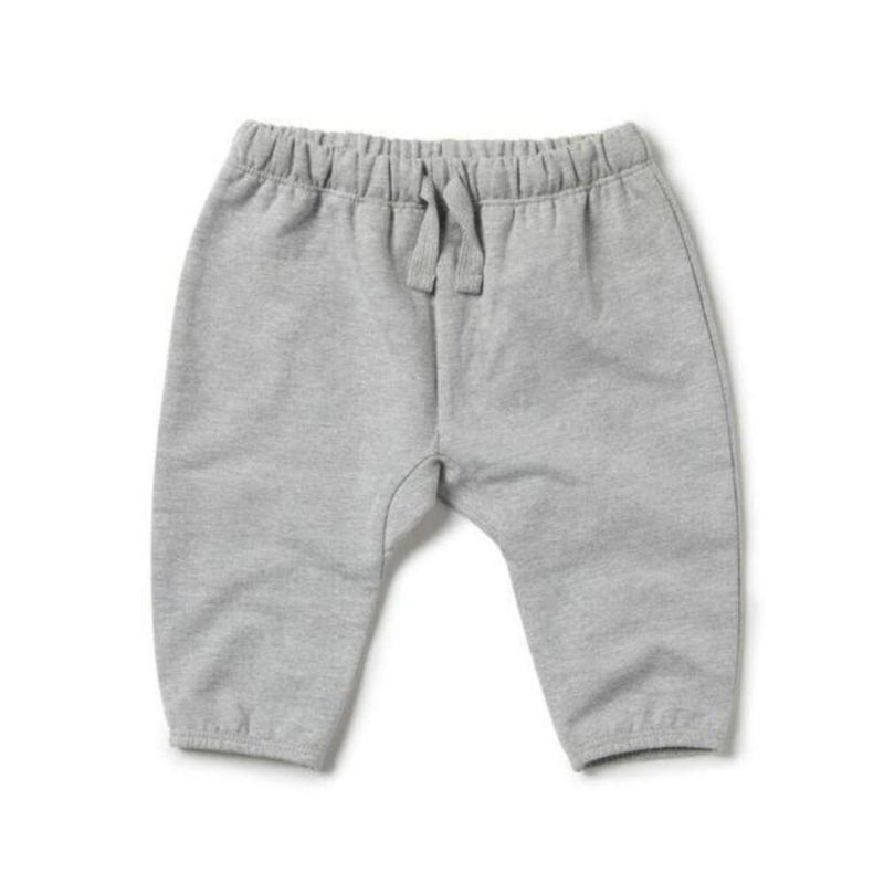 Wilson and Frenchy Slouch Pants - Grey Melange Bottoms - Tiny People Cool Kids Clothes