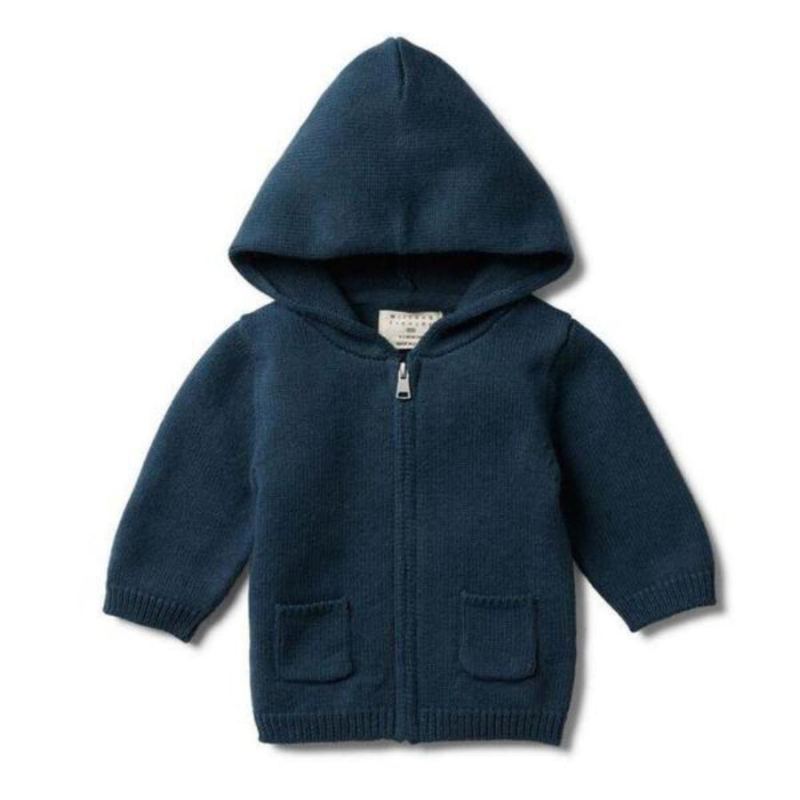 Wilson and Frenchy Knitted Zip Through Jacket - Majolica Blue - Tiny People Cool Kids Clothes Byron Bay