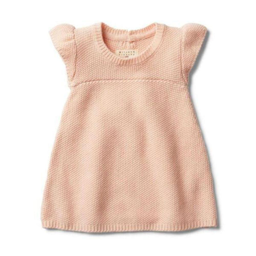 Wilson and Frenchy Knitted Dress - Peachy Pink - Tiny People Cool Kids Clothes Byron Bay