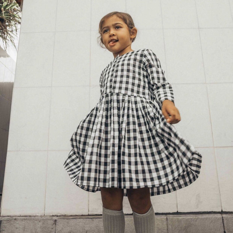 Lola Dress Black Gingham