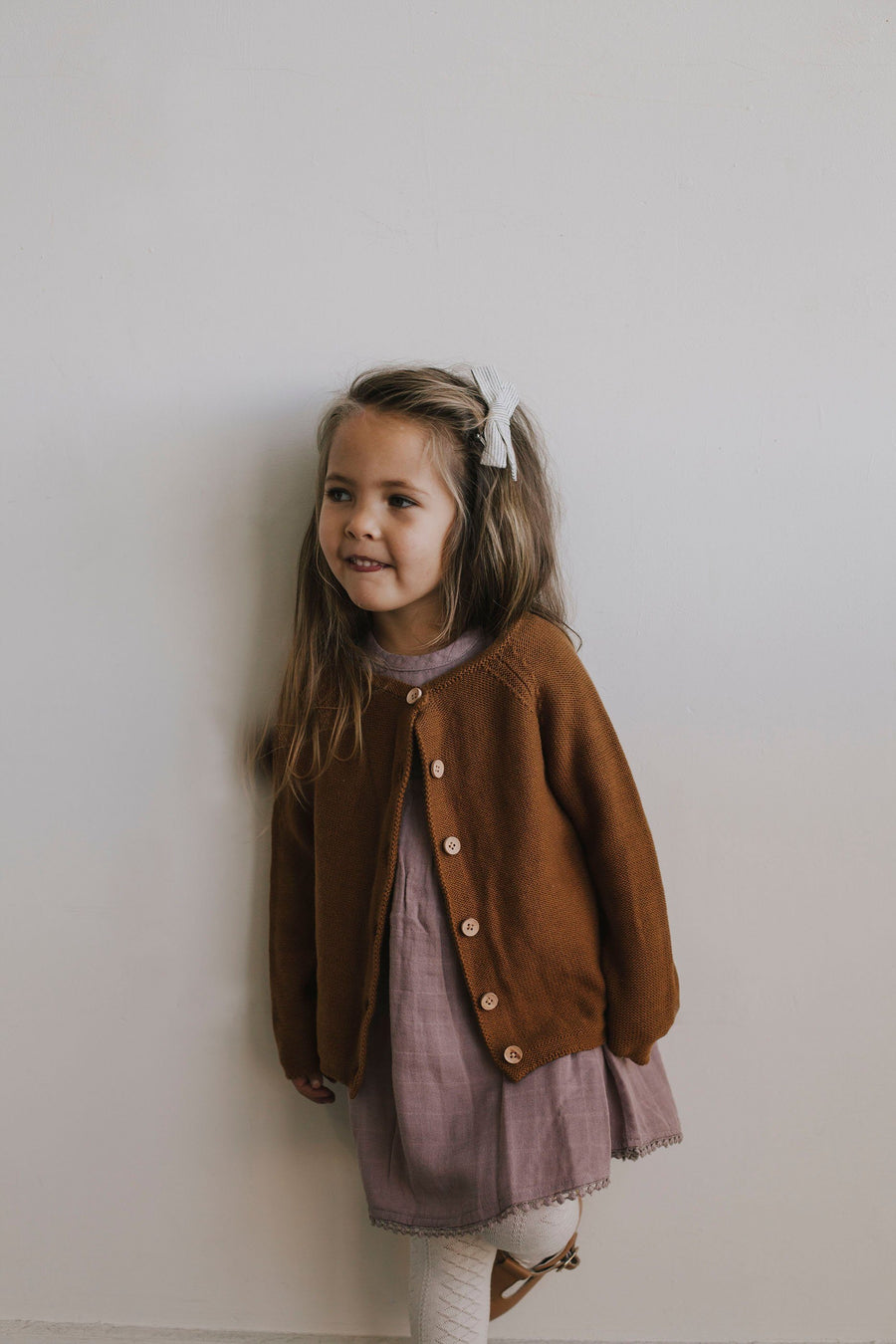 Jamie Kay Simple Cardigan - Bronze - Tiny People Cool Kids Clothes Byron Bay