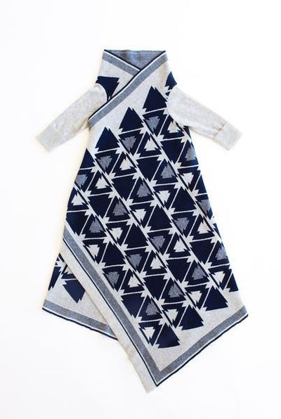 Jujo Baby Arrowhead Shwrap - Navy / Silver - Tiny People Cool Kids Clothes Byron Bay