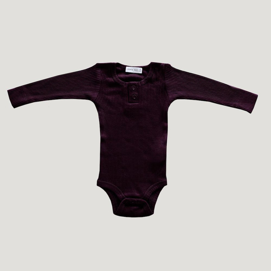 Cotton Essentials Bodysuit Mulberry