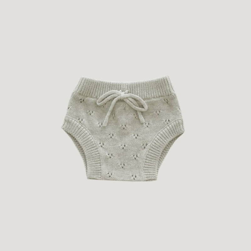 Pointelle Bloomer Oatmeal Marle