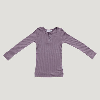 Cotton Modal Henley Top Dusk