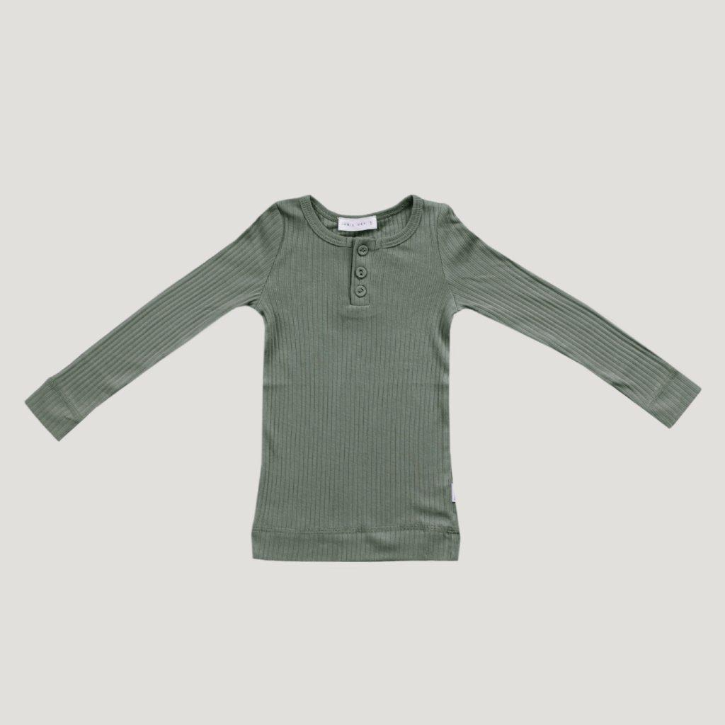 Cotton Modal Henley Top Laurel