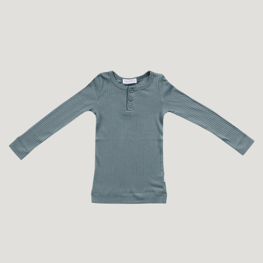 Cotton Essentials Henley Top Storm