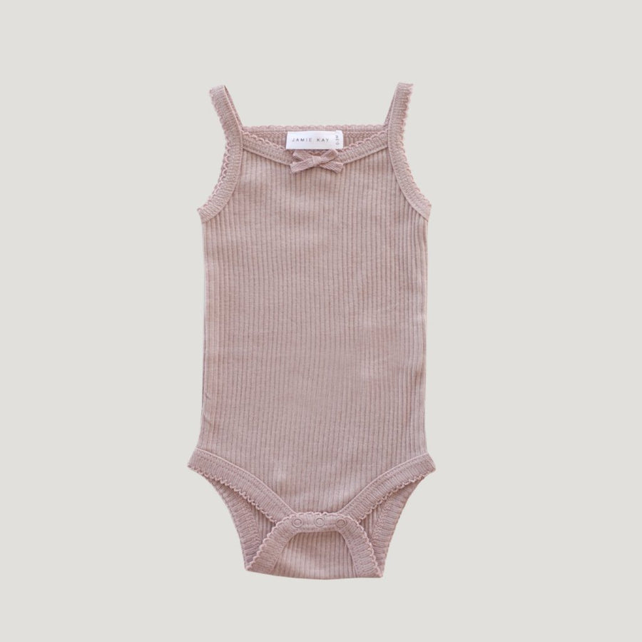 Cotton Modal Singlet Bodysuit Bloom