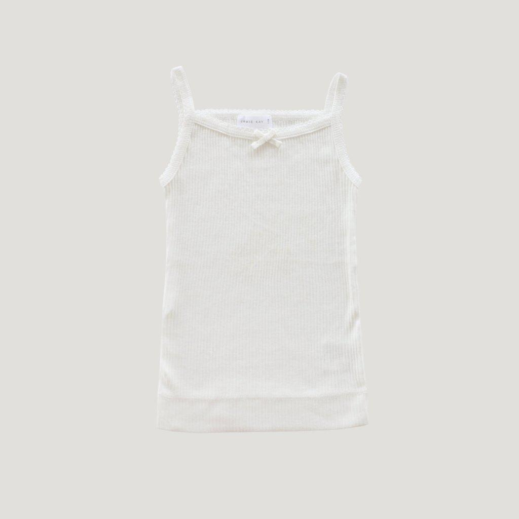 Cotton Modal Singlet Milk