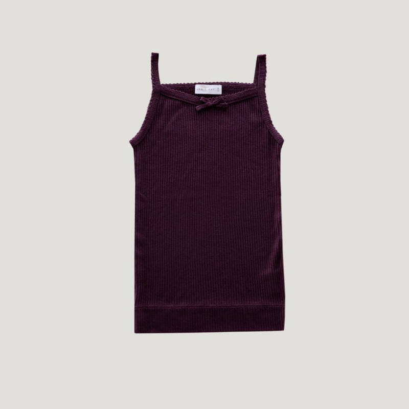 Cotton Essentials Singlet Mulberry