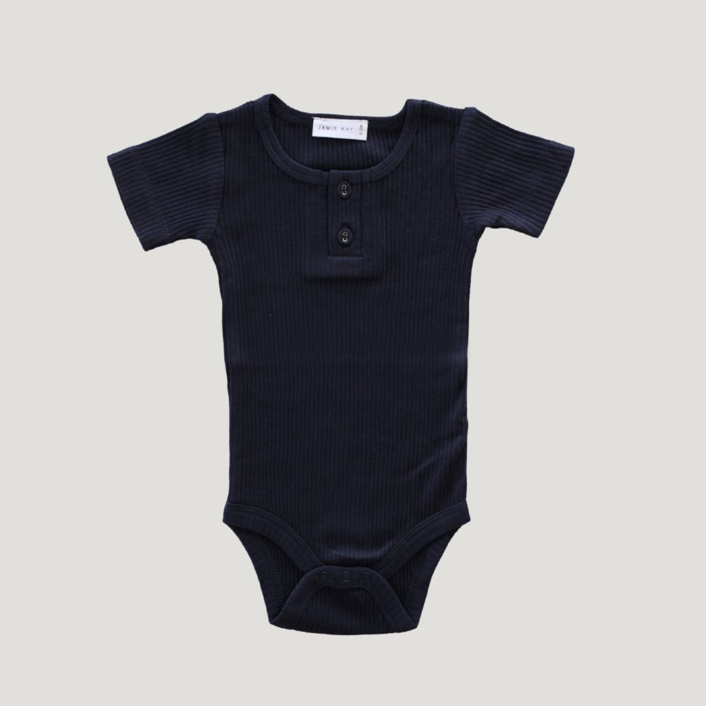 Cotton Modal Tee Bodysuit Dark Grey