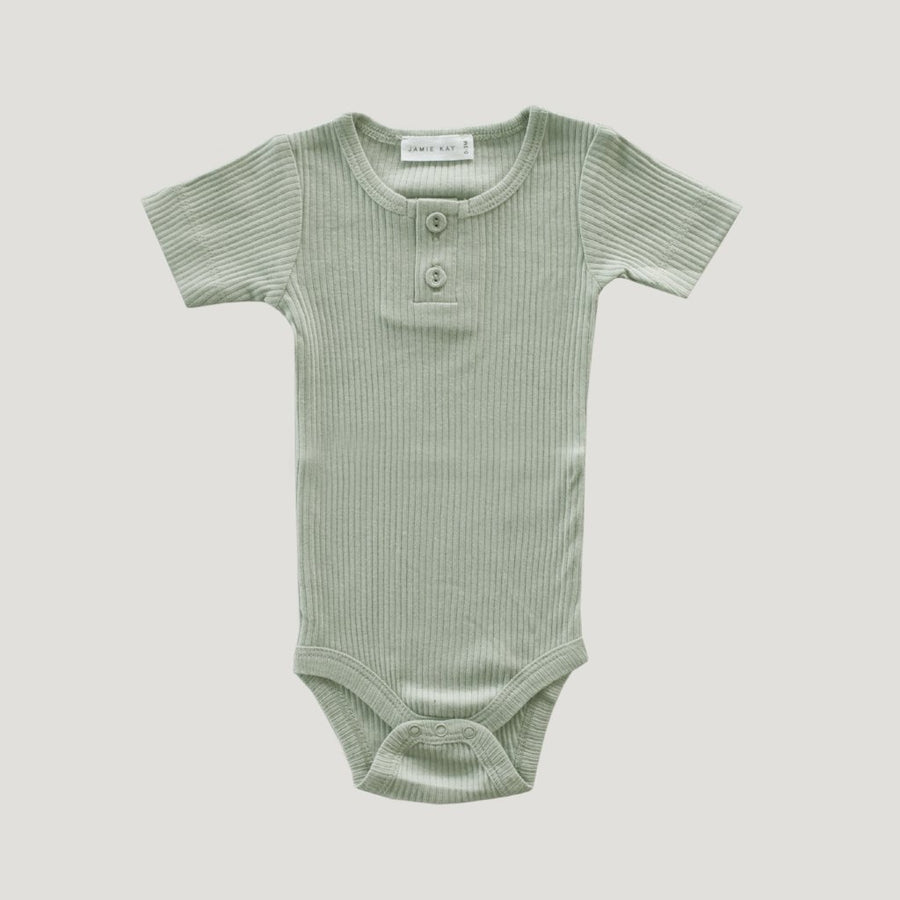 Cotton Essentials Tee Bodysuit Sage