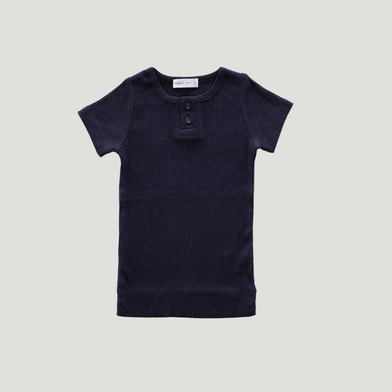 Cotton Modal Tee Dark Grey