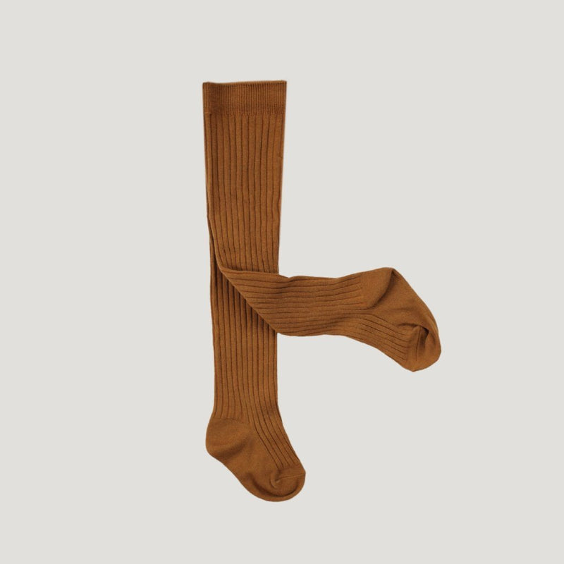 Jamie Kay Rib Tights Bronze Socks - Tiny People Cool Kids Clothes