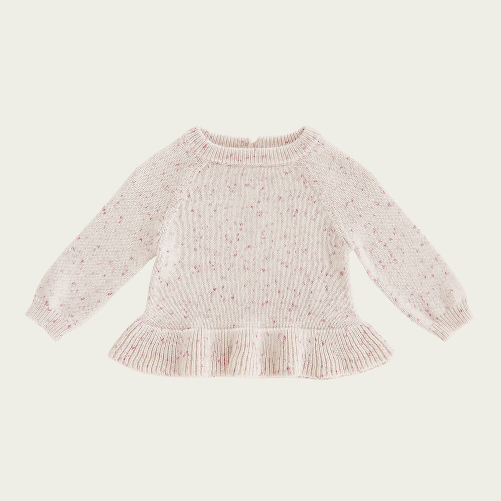Jamie Kay Addison Top Raspberry Fleck | Tiny People