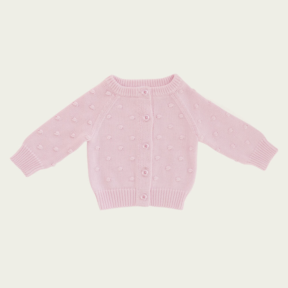 Jamie Kay Dotty Cardigan Lilac | Tiny People