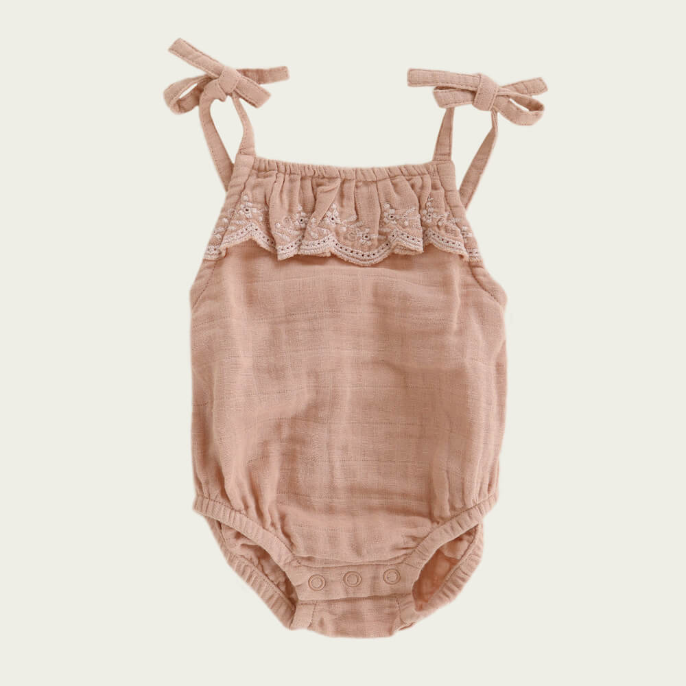 Jamie Kay Luna Embroidered Playsuit Sunset | Tiny People
