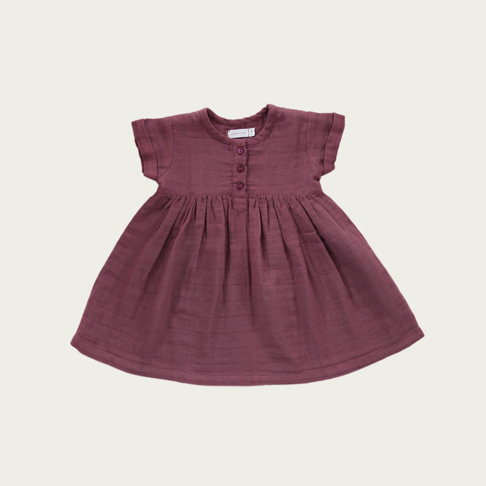 Jamie Kay Short Sleeve Dress Sugar Plum | Tiny People