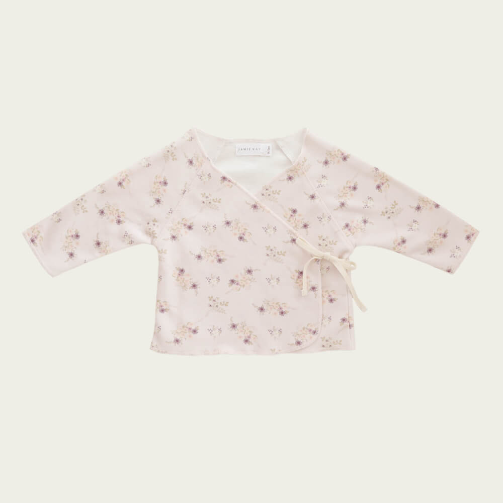 Jamie Kay Wrap Top Sweet Pea Floral | Tiny People