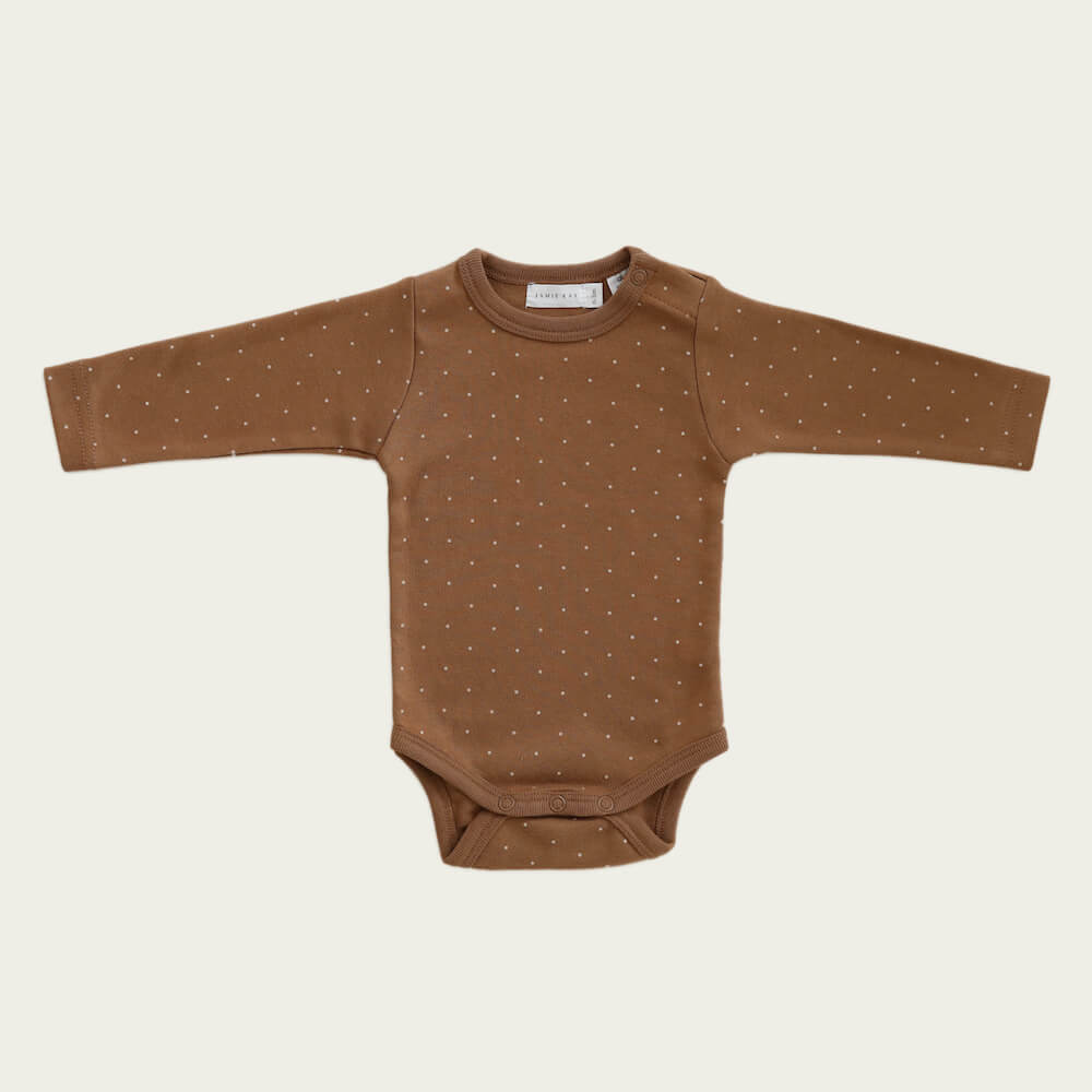 Jamie Kay L/S Bodysuit Tiny Dots | Tiny People