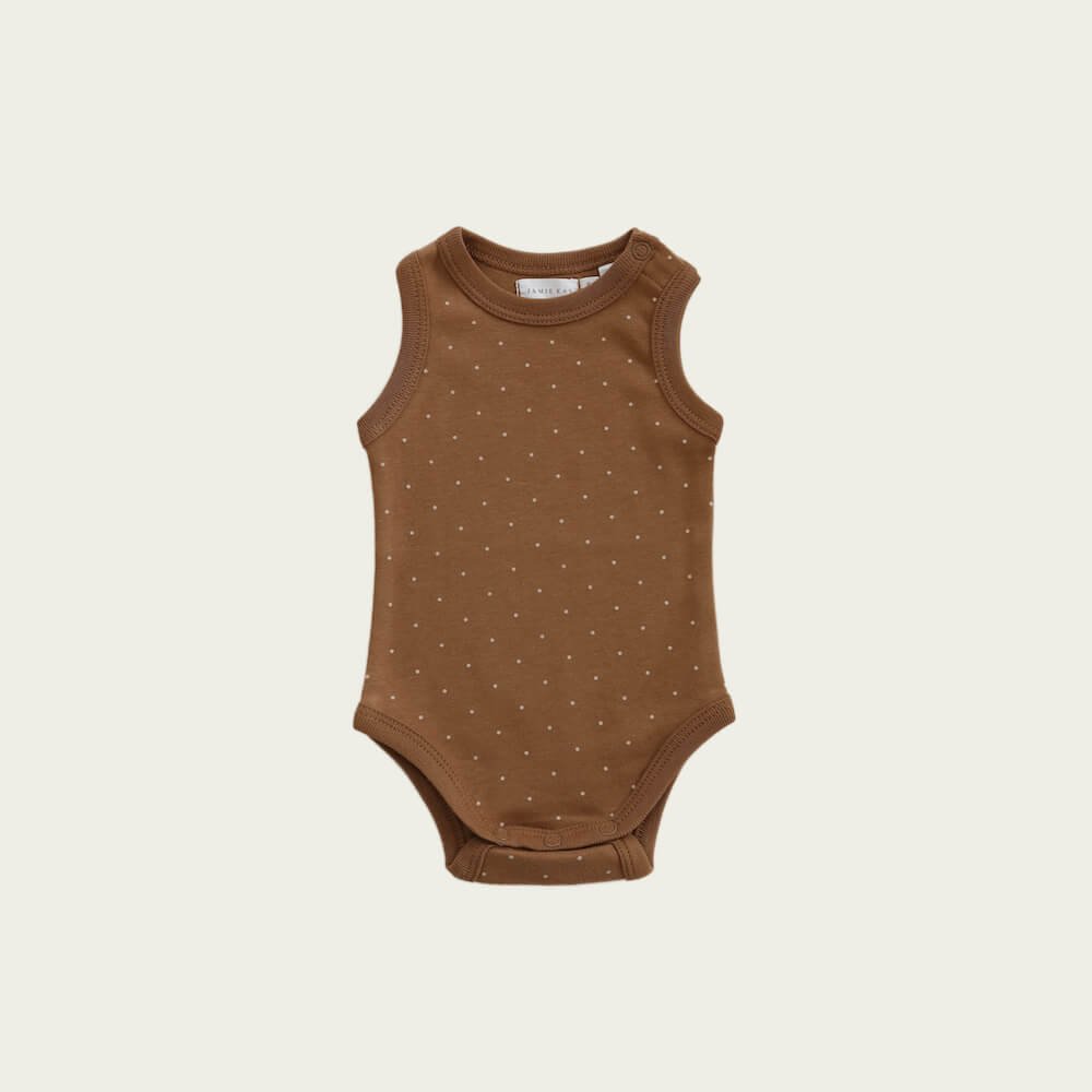 Jamie Kay Singlet Bodysuit Tiny Dot | Tiny People