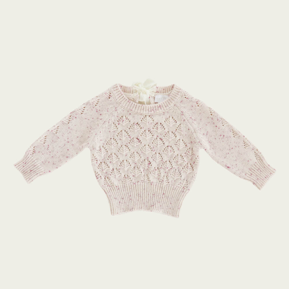 Jamie Kay Sienna Knit Raspberry Fleck | Tiny People