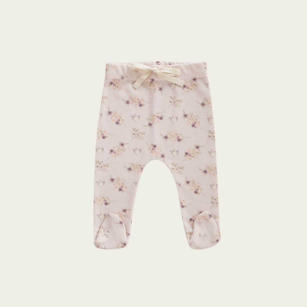 Jamie Kay Footed Pant Sweet Pea Floral | Tiny People